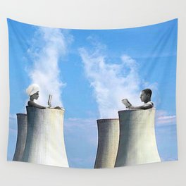 in a hot tub Wall Tapestry