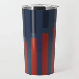 Vertically Red and Blue Travel Mug