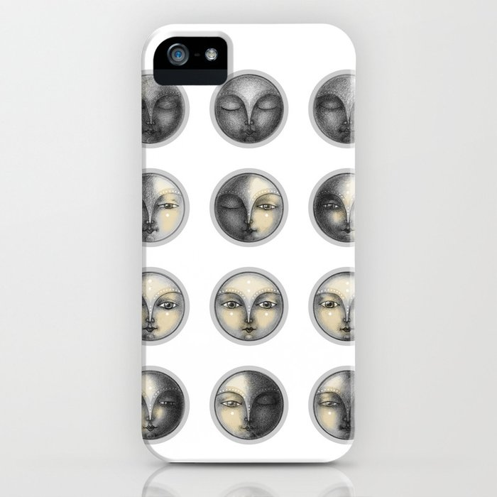 moon phases and romanticism iPhone Case