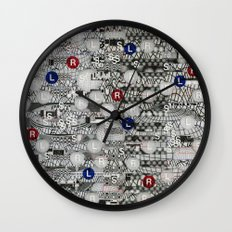 Do The Hokey Pokey (P/D3 Glitch Collage Studies) Wall Clock