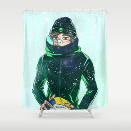 Oikawa Frostbite Shower Curtain