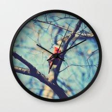 Winter Sonnet Wall Clock