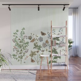 The fragility of living - botanical illustration Wall Mural
