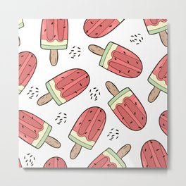Watermelon ice creams Metal Print