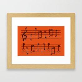 KeyNotes Framed Art Print