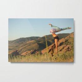 Gymnast Over Denver Metal Print