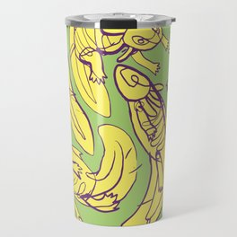 Scribbled Axolotls in Color Travel Mug