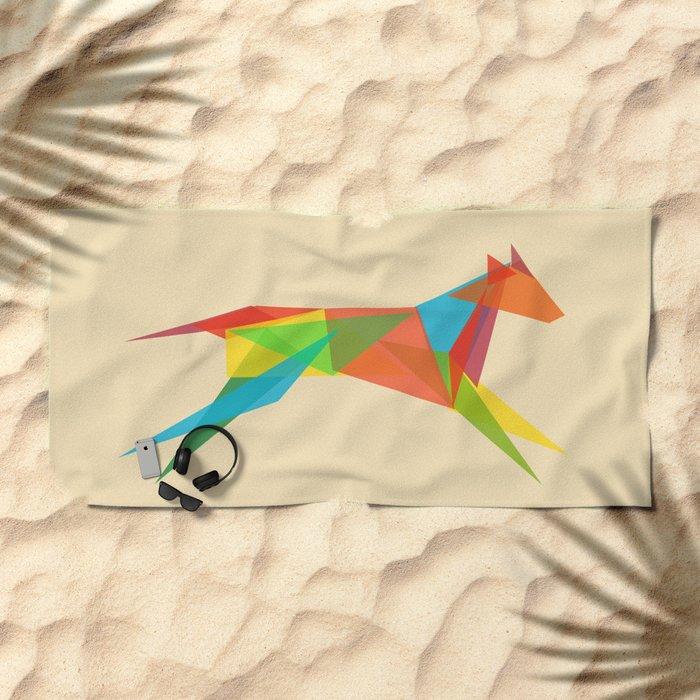 Fractal Geometric Dog Beach Towel