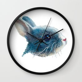 cute bunny illustration Wall Clock