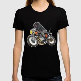 Labrador Riding Motorcycle T-shirt