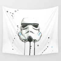 stormtrooper Wall Tapestries featuring Stormtrooper by McCoy