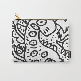 Cool Graffiti Art Dinosaur Black and White  Carry-All Pouch