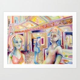 The Critics Art Print