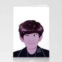 johannathemad Stationery Cards featuring Chanyeol by JohannaTheMad