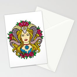 The Horned Goddess (Painting) Stationery Cards