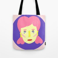 death cab for cutie Tote Bags featuring Cutie by Grace Teaney Art