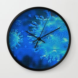 blue Molecules Abstract ( Limited 01 / 50#) Wall Clock