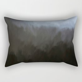 Abstract Black to White Shades.  Like painted on canvas. Rectangular Pillow