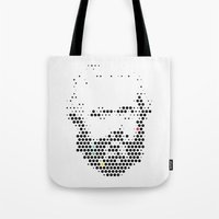 marx Tote Bags featuring Marx in Dots by The Sound of Applause