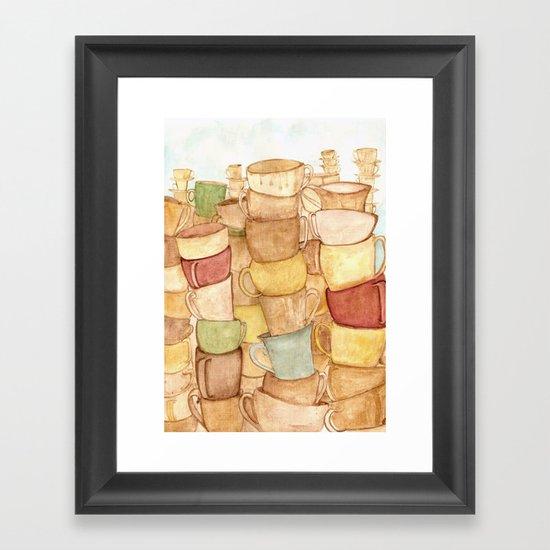 2 espressos Framed Art Print