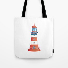 nautical lighthouse Tote Bag