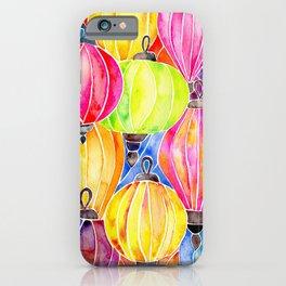 Vietnamese Rainbow Lanterns iPhone Case
