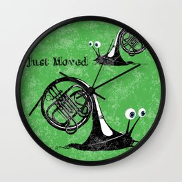 Just moved.  (French Horn) Wall Clock