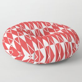 Mid Century Modern Diamond Pattern Red 234 Floor Pillow