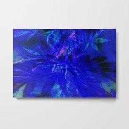 Cannabis Blues Metal Print