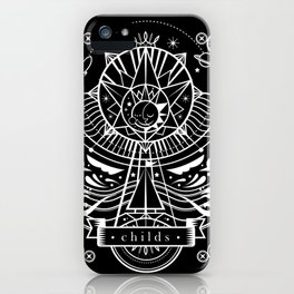Childs: Electronic lullabies b/w iPhone Case