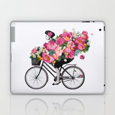 floral bicycle  Laptop & iPad Skin