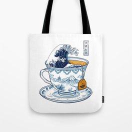 The Great Kanagawa Tea Tote Bag
