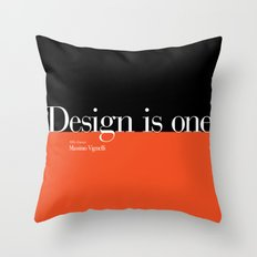 Design is One — Honoring Massimo Vignelli Throw Pillow