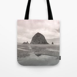 Soft Glowing Haystack Rock Cannon Beach Oregon Coast Geology Landscape Nature Tote Bag