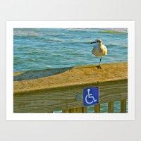 Handicapped Art Print