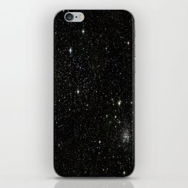 Universe Space Stars Planets Galaxy Black and White iPhone Skin