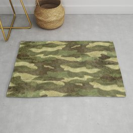 Distressed Camouflage Rug