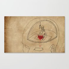 I Live Like a Hermit in My Own Head Canvas Print