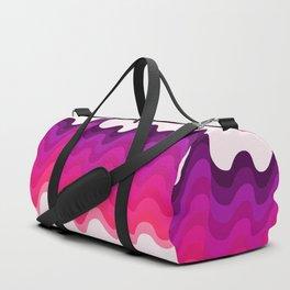 Retro Ripple in Pinks Duffle Bag