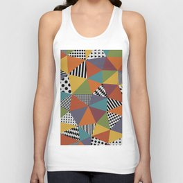 Colorful Geometry Unisex Tank Top