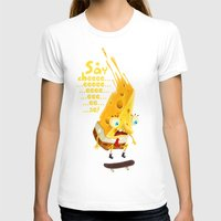 cheese T-shirts featuring Say cheese by Lime