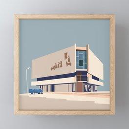 Soviet Modernism: Chess house in Yerevan Framed Mini Art Print