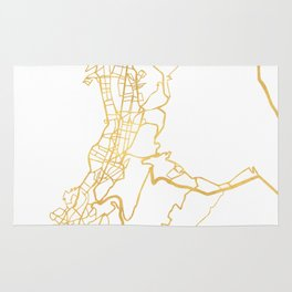 QUITO ECUADOR CITY STREET MAP ART Rug