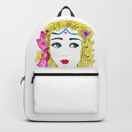 Girl with Blue Eyes Backpack