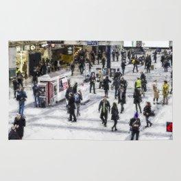 London Commuter Art Rug