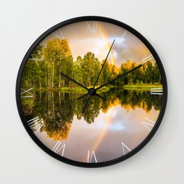 Rainbows: The gift from heaven to us all Wall Clock