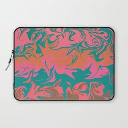 Purple storm, abstract hurricane in orange, blue and purple Laptop Sleeve