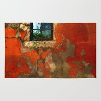 window Area & Throw Rugs featuring Window by Cansu Girgin