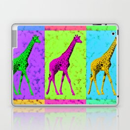 Pop Art Walking Giraffe Panels Laptop & iPad Skin