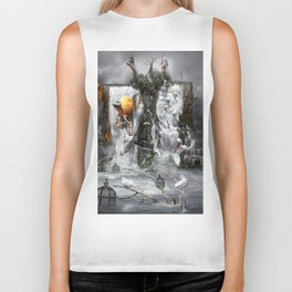 'PEACE IS THE RIVER OF LIFE' Biker Tank